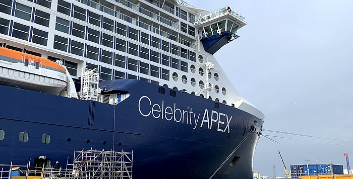 Photo de Le Celebrity Apex confiné à Saint-Nazaire