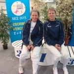 Claire et Caroline aux European Masters Games à Nice le 3/10/15