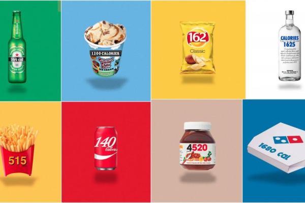 Logolar yerine kaloriler olsaydı