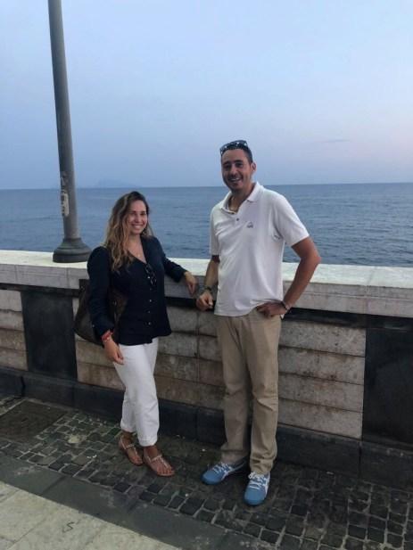 Silvia e Mirko durante l'intervista