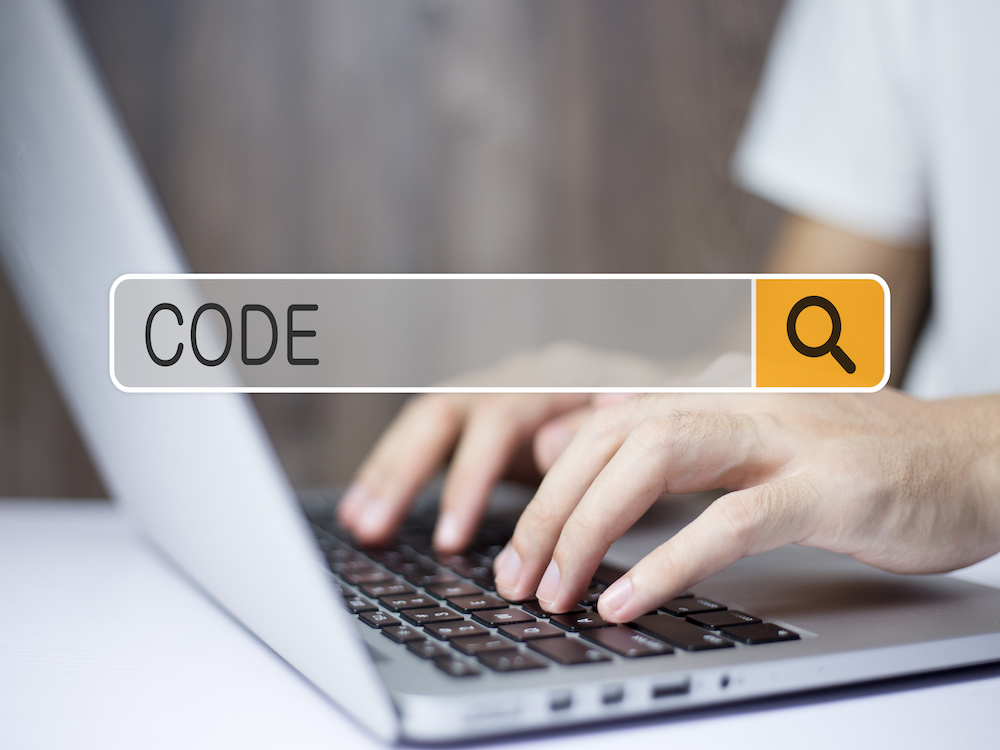 Concept Of Code For The Business Use.
