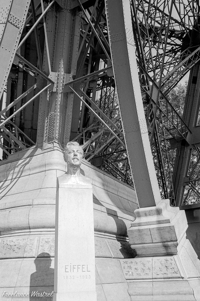 The bust of Gustave Eiffel 1832-1923