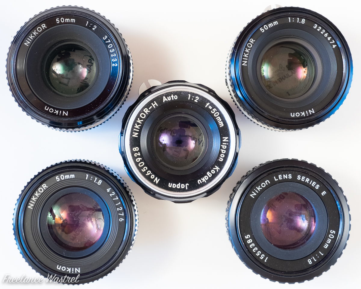 Nikkor 50mm lenses