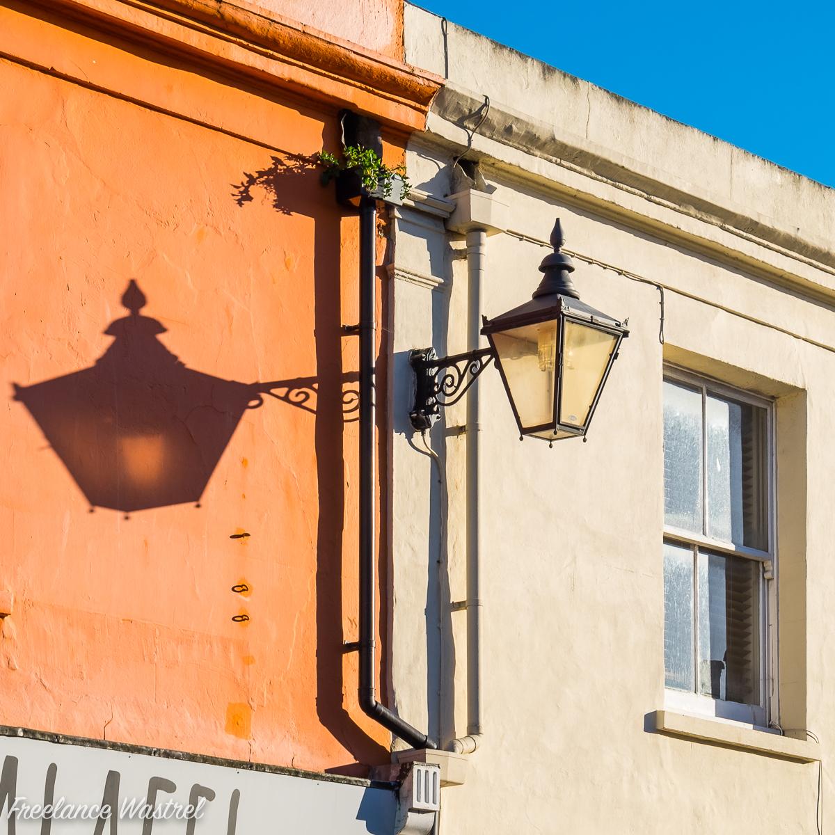 Street lamp shadow, Brighton