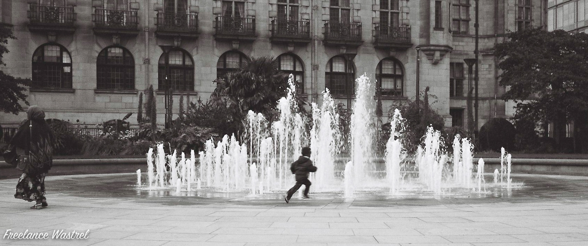 He'll be running round the fountain
