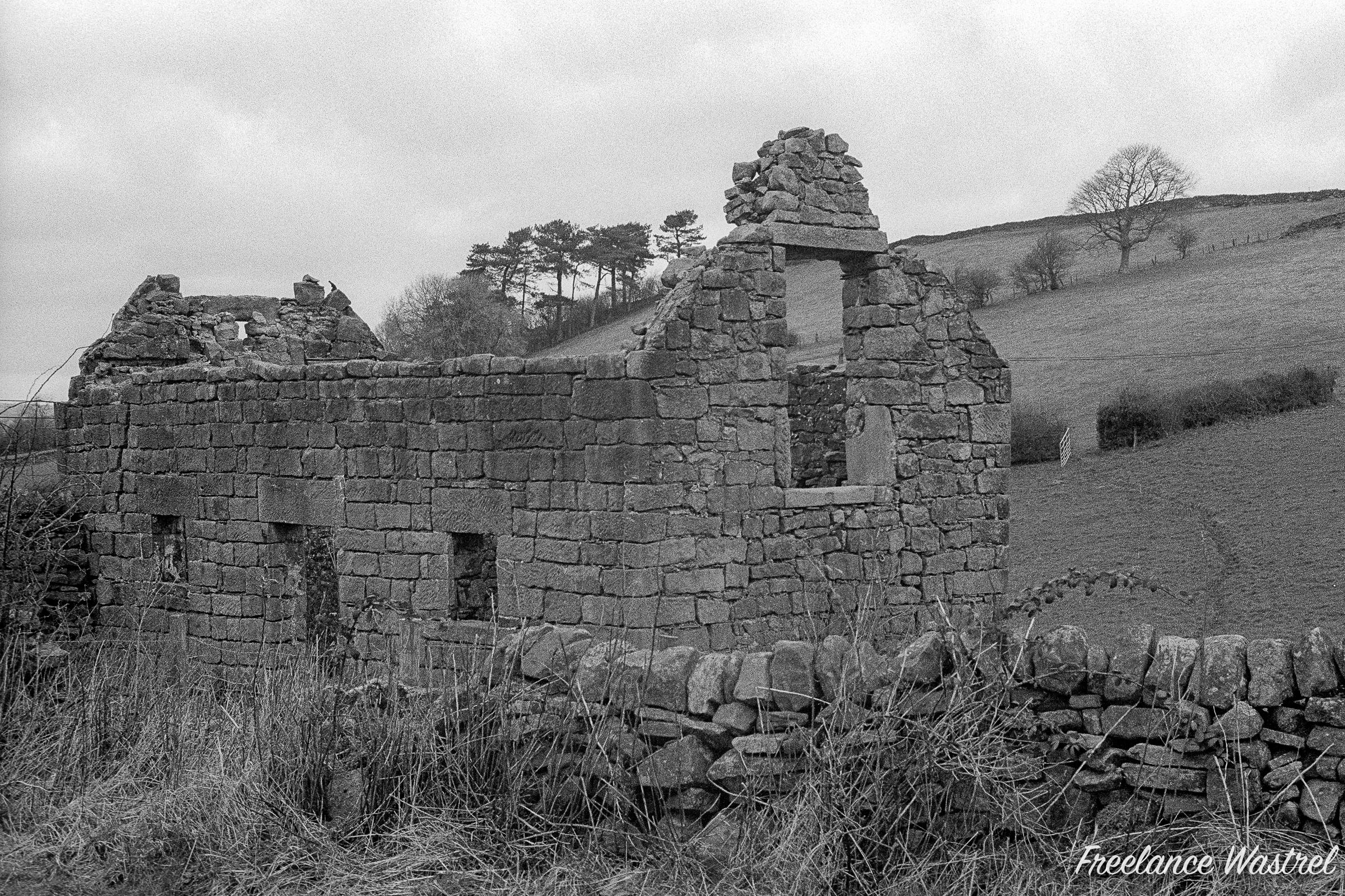 Ruined cottage, Derbyshire, January 2020
