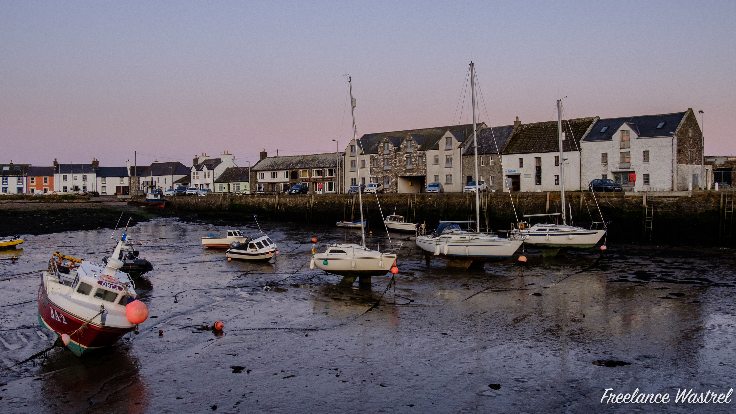 Harbour Row, Isle of Whithorn, October 2019