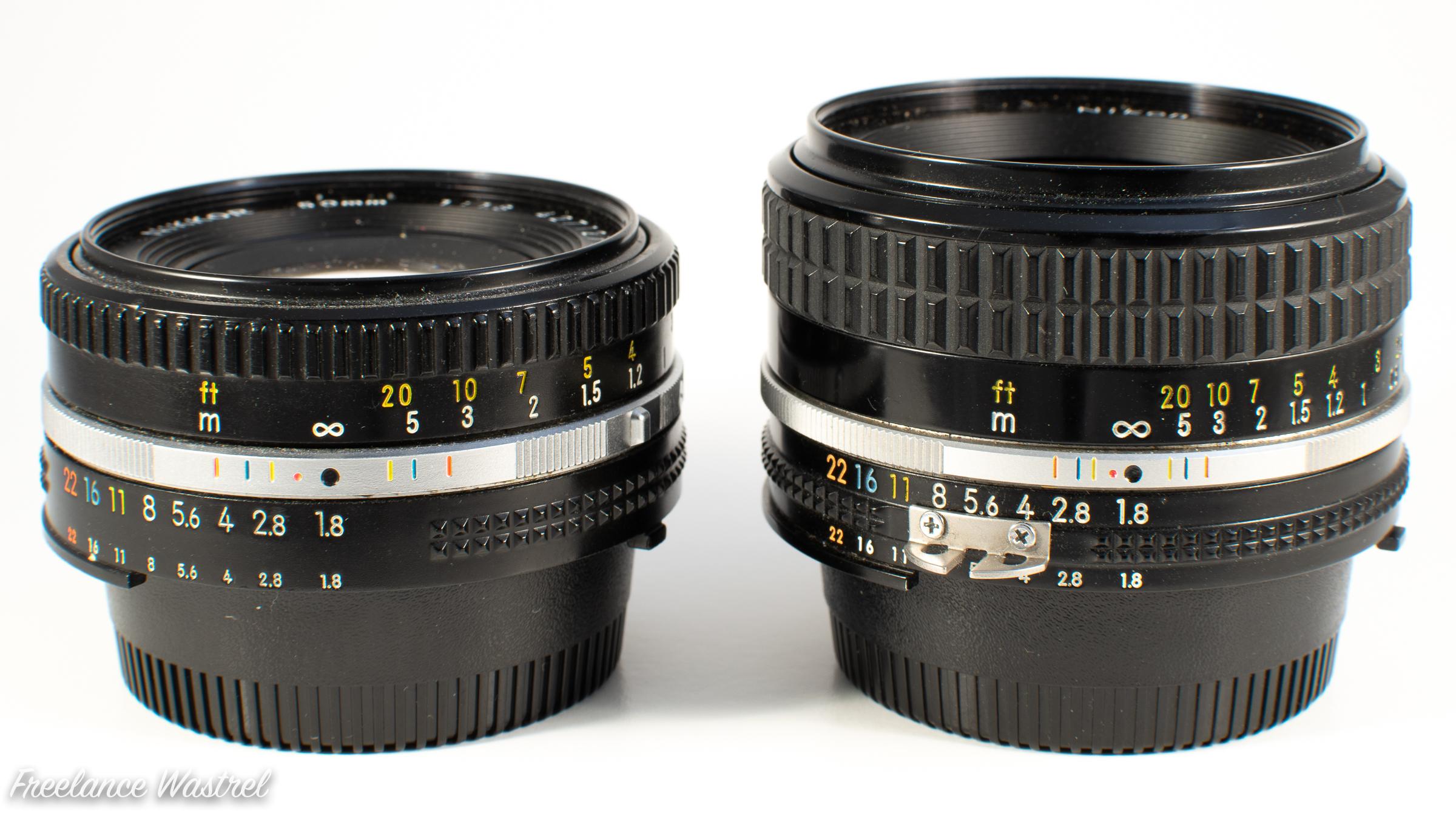 Nikkor 50mm lenses