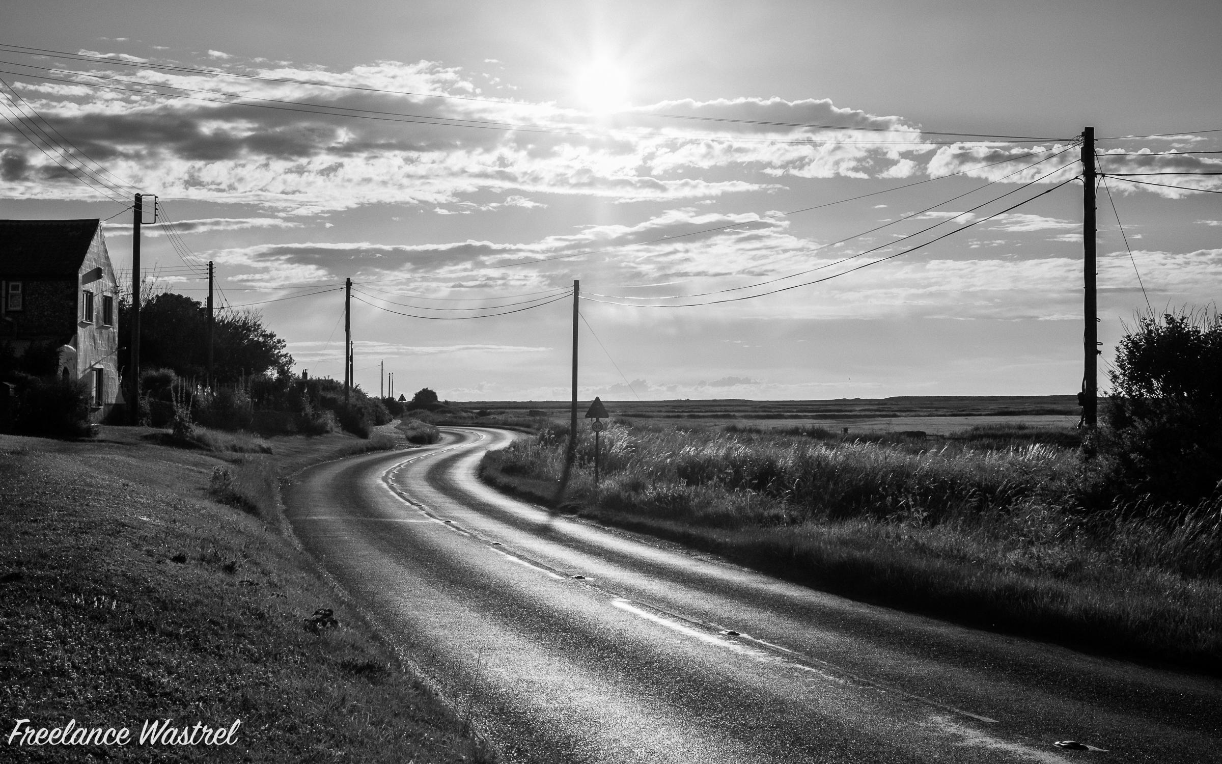 Winding road, North Norfolk