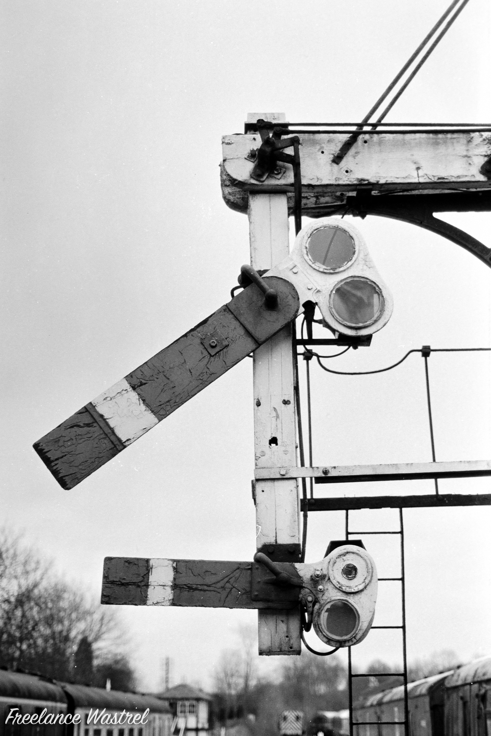 Lower quadrant signals, Butterley station