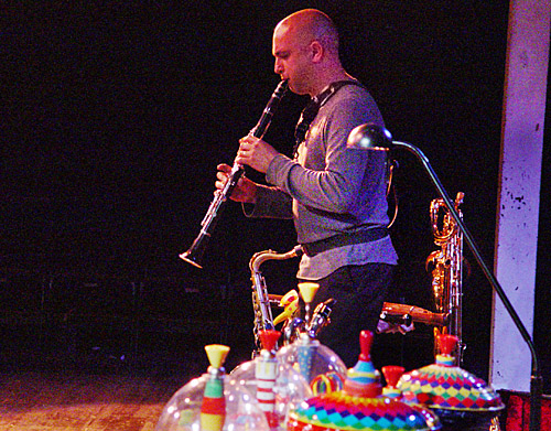 Adam Simmons on clarinet