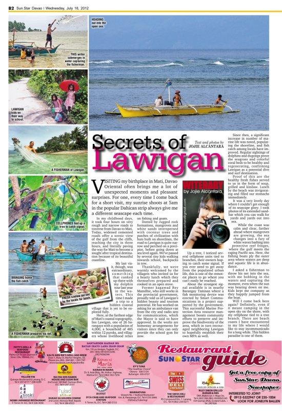 Secrets of Lawigan by Jojie Alcantara