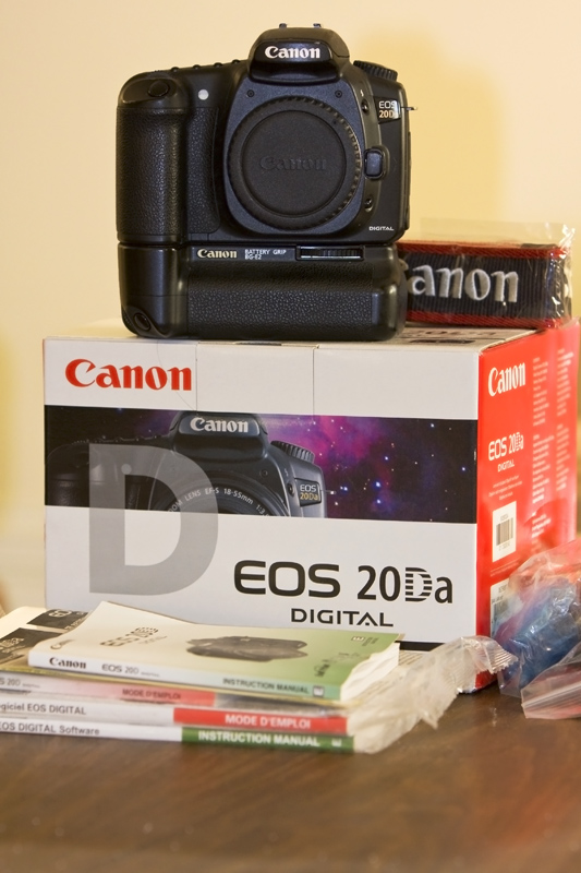 My Canon EOS 20Da and Original packaging