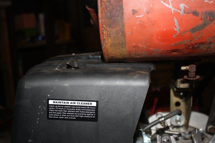 air cleaner hitting gas tank.