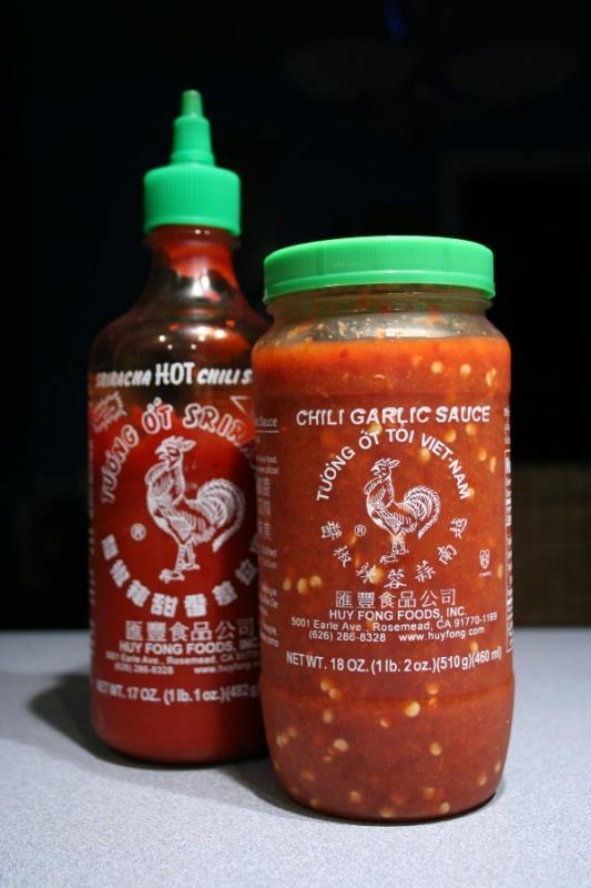 I used the chili garlic sauce.  Lots.