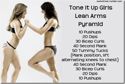 tone it up girls arm workout