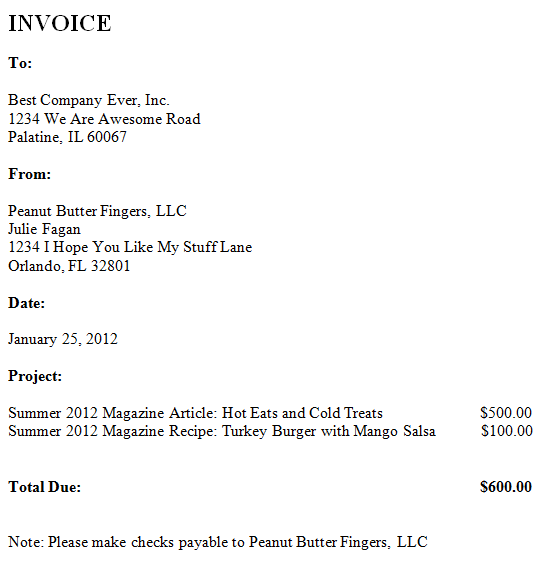 freelance writing invoice template – residers, Invoice templates