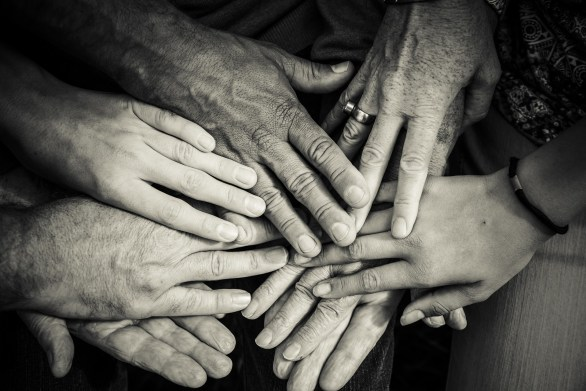 togetherness, group of hands, senior, loneliness, social, connections, people, impact, risk