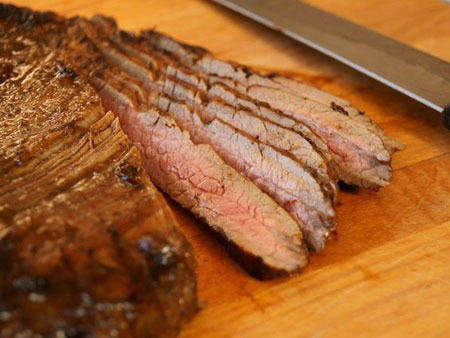 Grilled Coffee Balsamic Flank Steak