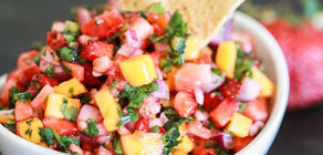 Strawberry Mango Salsa for Cinco de Mayo