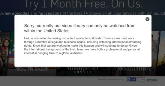 Screenshot courtesy of Hulu.com