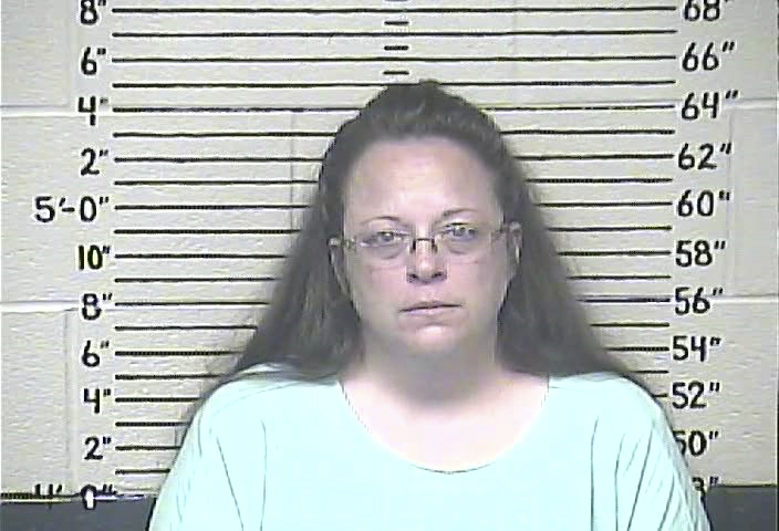 Rowan County, Kentucky, clerk Kim Davis was jailed last week for refusing to issue marriage licenses to gay couples. Photo courtesy of Carter County Detention Center/Handout via Reuters