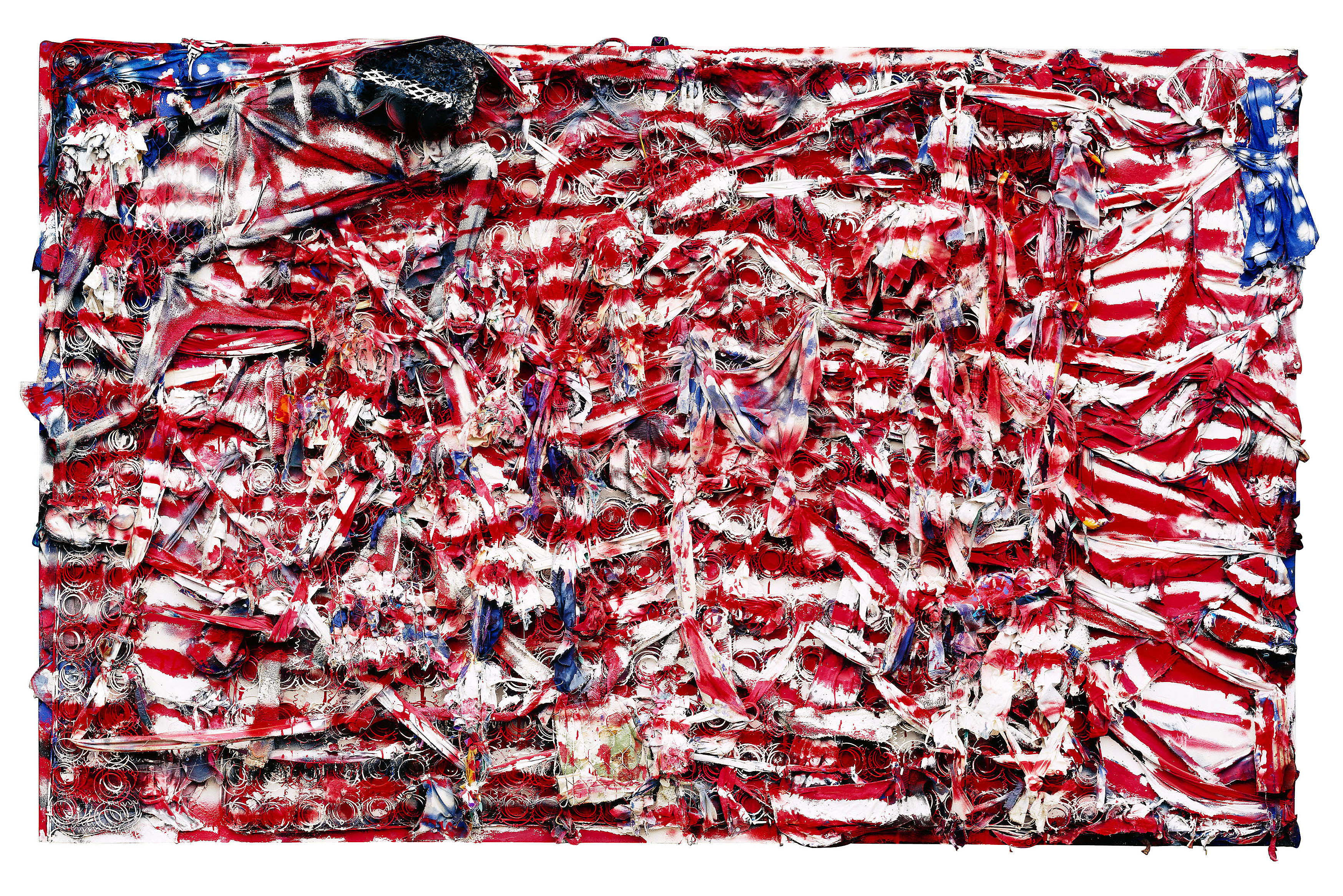 """Don't Matter How Raggly The Flag, It Still Got To Tie Us Together,"" 2003. © Thornton Dial, image by Stephen Pitkin/Pitkin Studio. Collection of the Indianapolis Museum of Art"