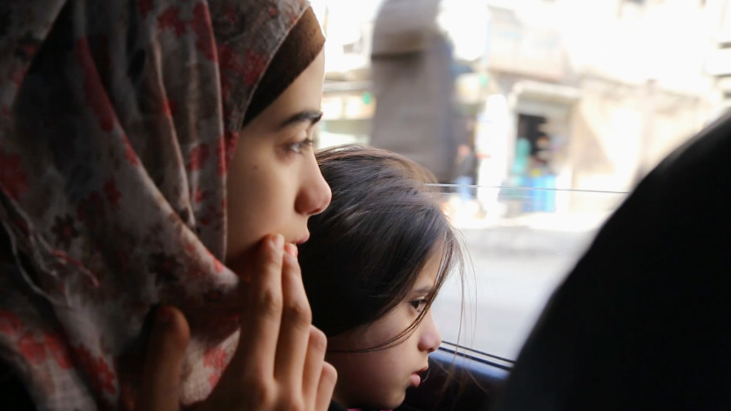 """Helen (left) and Sara (right), two of the """"Children of Syria"""" in FRONTLINE's documentary chronicling a family's escape from Syria to a new life as refugees in Germany."""