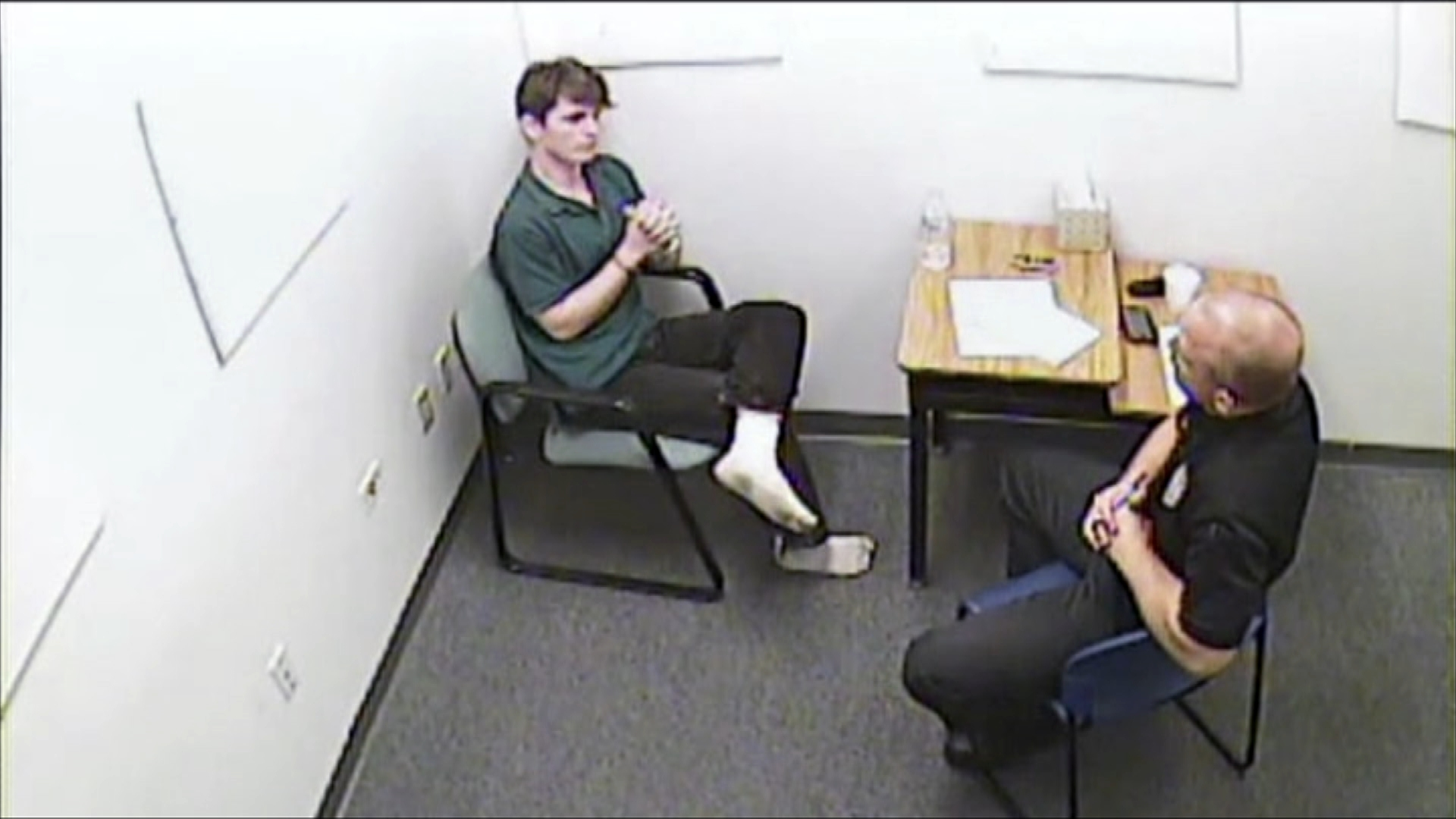 A still from Devon Arthurs' interview with the Tampa police.