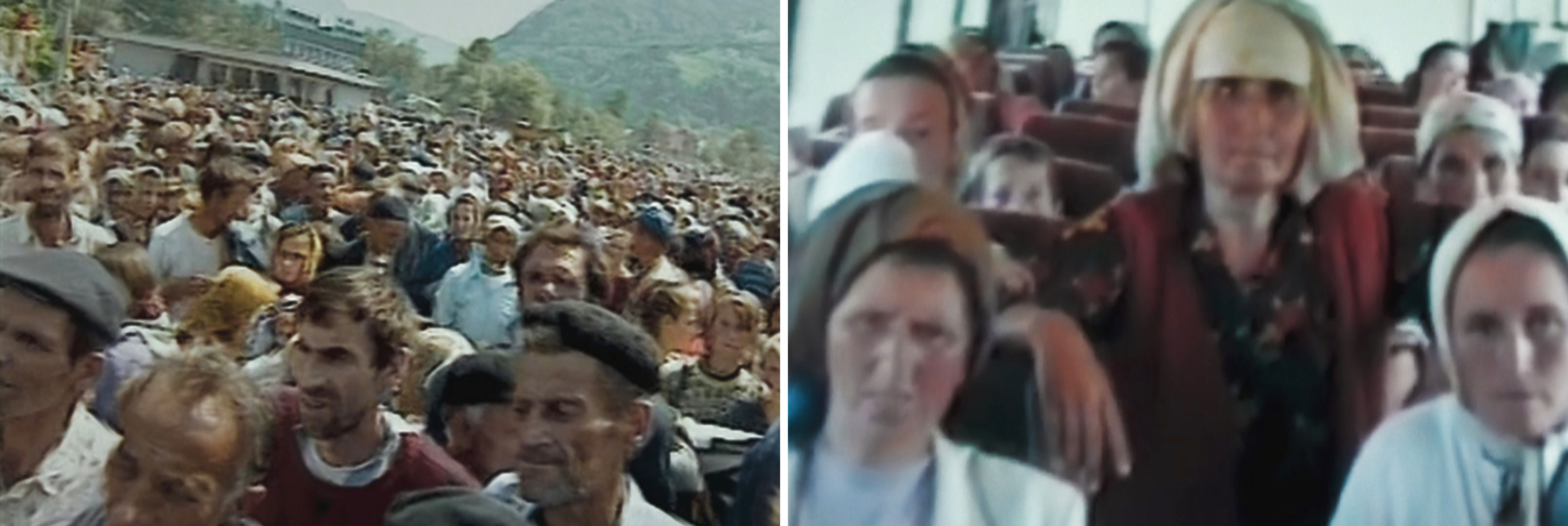 men separated from women in srebrenica enclave