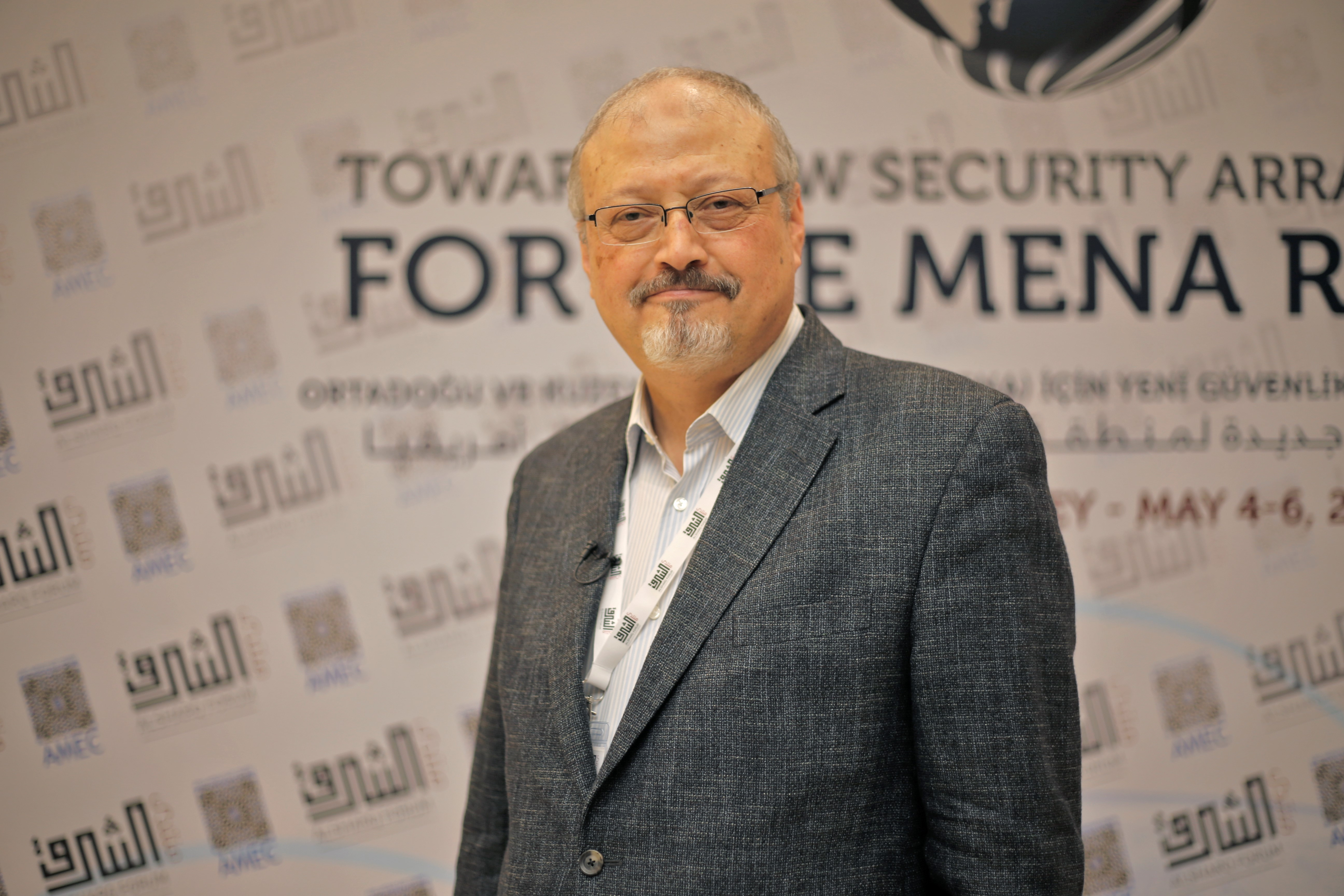 Saudi journalist Jamal Khashoggi in Istanbul, Turkey.