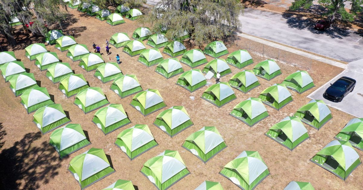 Tampa Sets Up Tent City So Homeless Can Shelter In Place