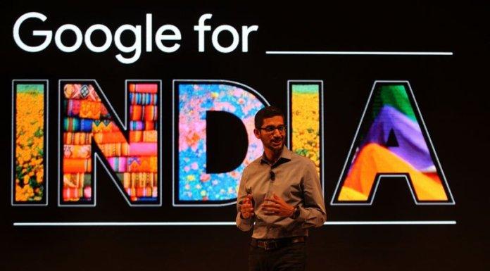 Google CEO Sundar Pichai at Google for India event