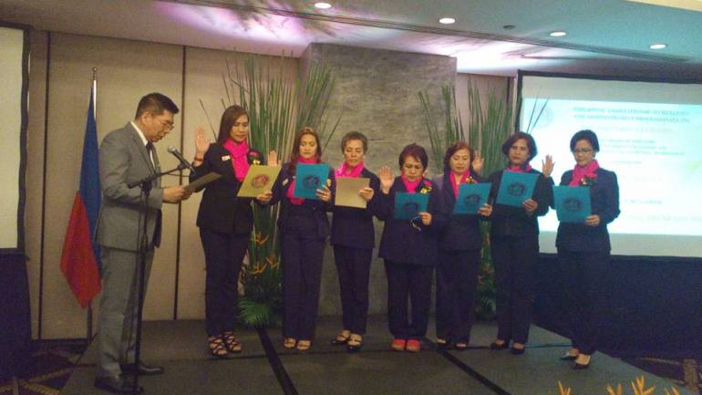 PCAAE inducts PAS, PASDF board, officers, committee chairs