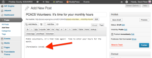Creating the monthly hours collection form - Step 9