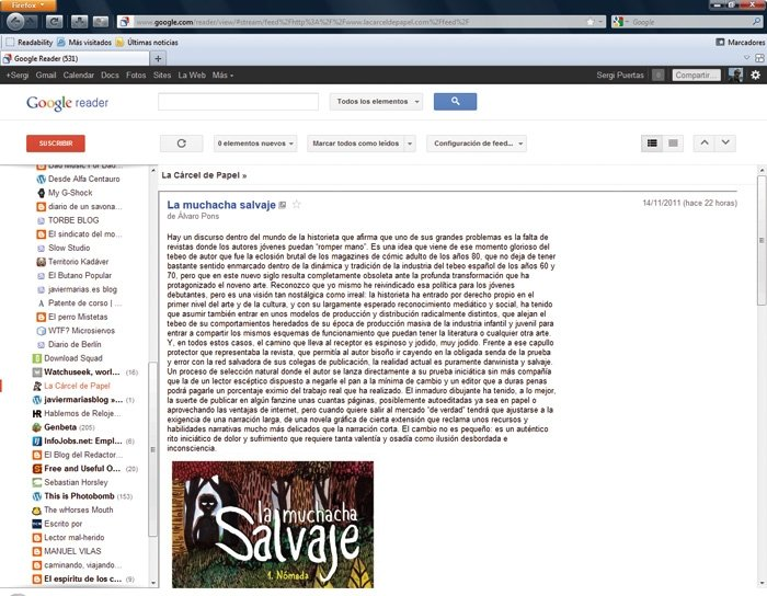 Lectores feeds Google Reader