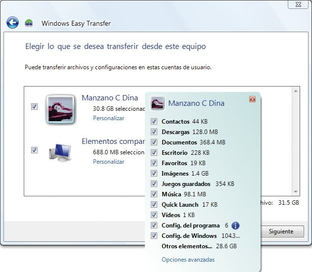 Práctico Windows Easy Transfer 5