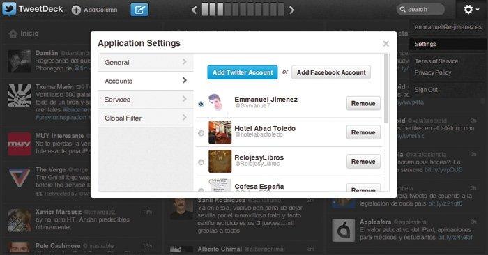 Twitter con TweetDeck y HootSuite 2