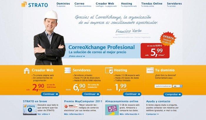 Servicios de almacenamiento on-line gratuito Strato