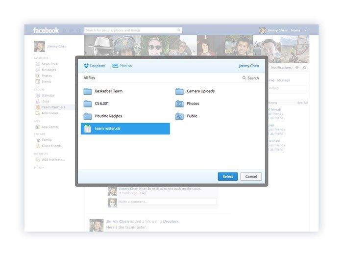 Facebook Dropbox 3