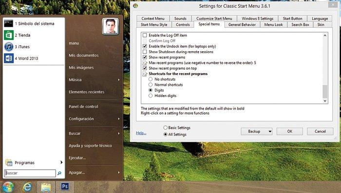 botón de Inicio a Windows 8 6