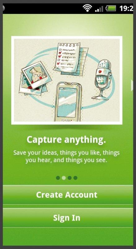 Aplicaciones móviles Evernote