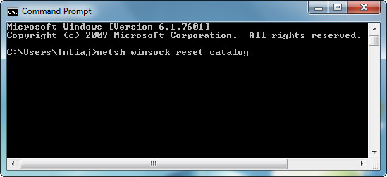 Winsock Reset Catalog