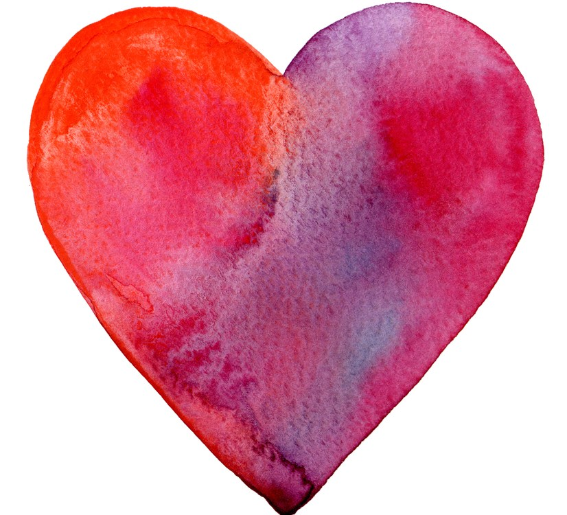 water color heart