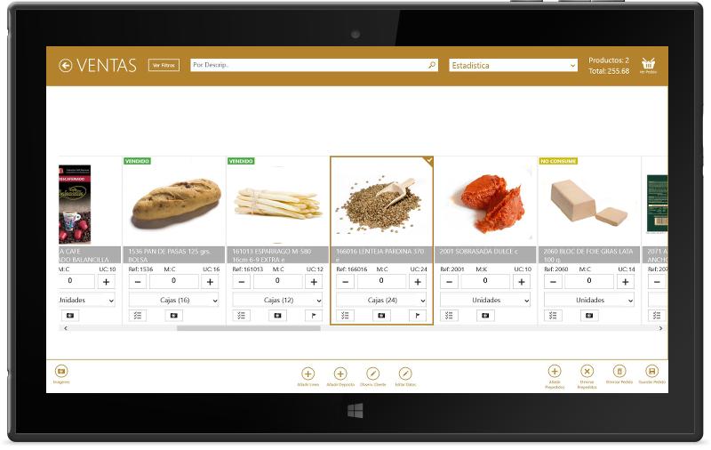 Software preventa tablet alimentacion Erp distribución