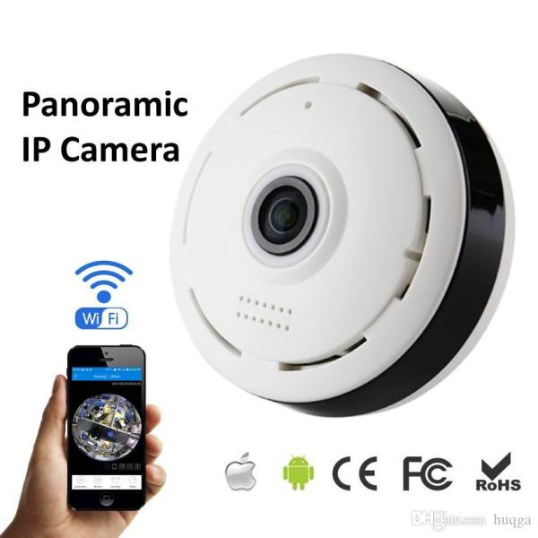 360 degree panorama cctv camera wifi 960p