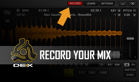 DJ Software Demo Video - Recording Your Mix with PCDJ DEX 3