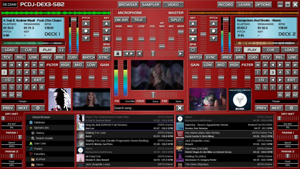 DJ Software Skins | SB2 DEX 3 Skin Has A Red 5 2 Throwback