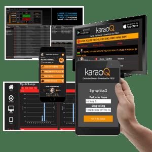 karaoQ360 with karaoke software