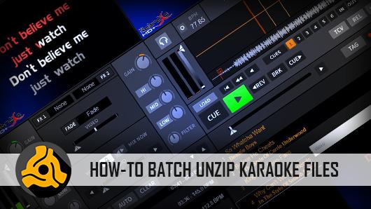 DEX 3 Pro Tip | How To Batch-Unzip Karaoke Files | PCDJ